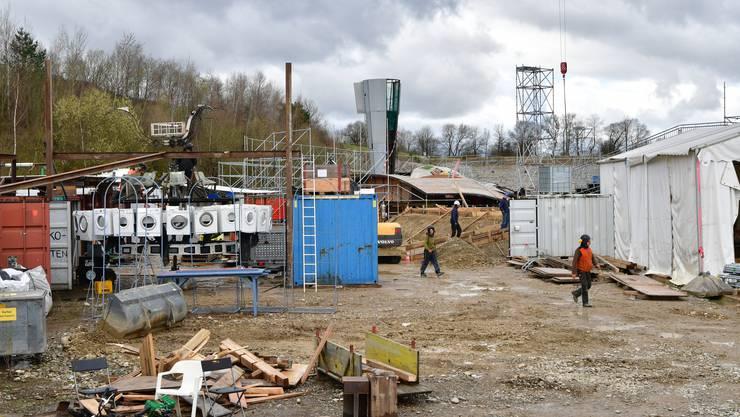 Aufbau-Repo Karls kühne Gassenschau 2018 in Olten