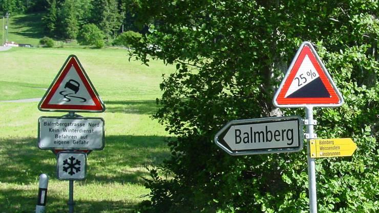 Die Strasse über den Balmberg: Von Welschenrohrern eine gerne genutzte Strecke.