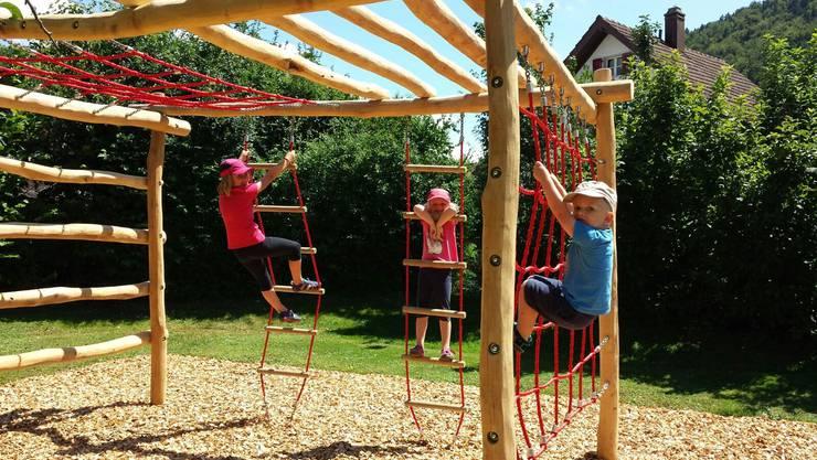 Klettergerüst Robinie : Spielplätze werden aufgewertet thal gäu solothurn az