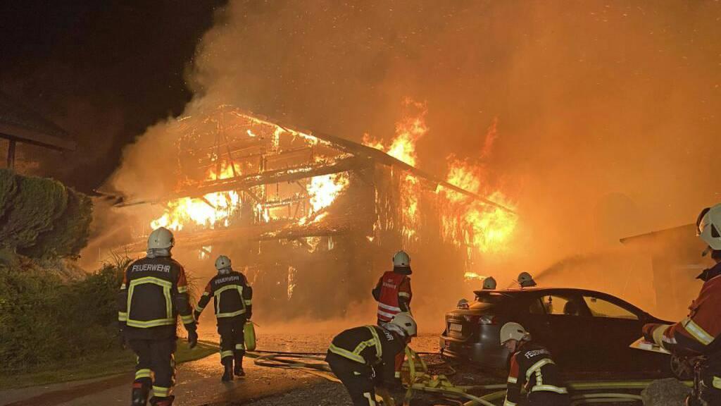 Defekt löste Scheunenbrand in Müswangen aus