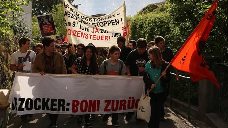 Juso-Demonstration am Samstagnachmittag in Zollikon