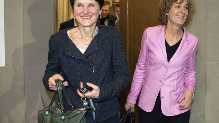 Die Wahl in den Gemeinderat haben Franziska Teuscher (l.) und Ursula Wyss bereits geschafft. Ob sie sich im zweiten Wahlgang ums Stadtpräsidium bewerben, ist jedoch noch offen.