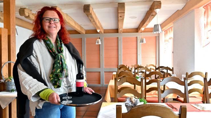 Eva Merz eröffnete den «Löwen» in Erlinsbach SO im Februar neu. Seit Ende Juni ist die Dorfbeiz aber geschlossen.