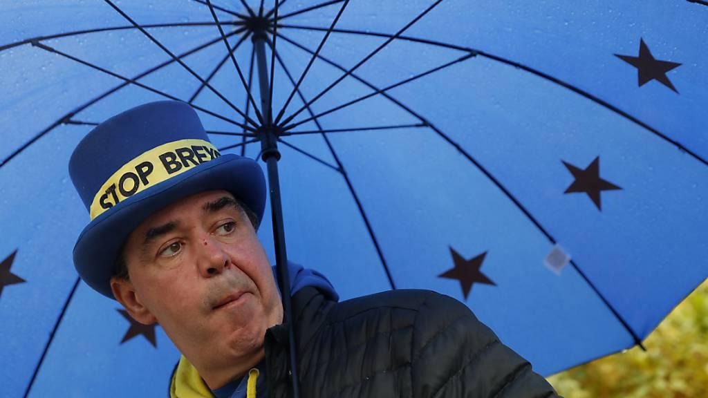 Der für seine Zwischenrufe bekannt gewordene Brexit-Gegner Steve Bray (im Bild) kandidiert für die pro-europäischen Liberaldemokraten bei der britischen Parlamentswahl in einem Monat. (Archivbild)