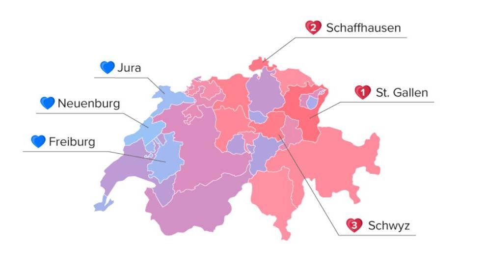 Romantischste Zentralschweizer wohnen im Kanton Schwyz
