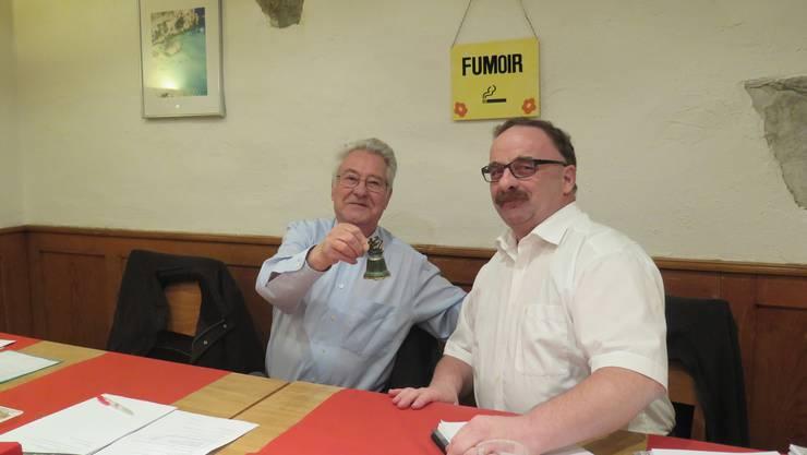 Hermann Weidmann übergibt das Präsidium des Samaritervereins Lohn-Ammannsegg an René Heeb