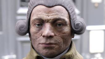Eine 3D-Rekonstruktion des Revolutionärs Maximilen de Robespierre (1758-194)
