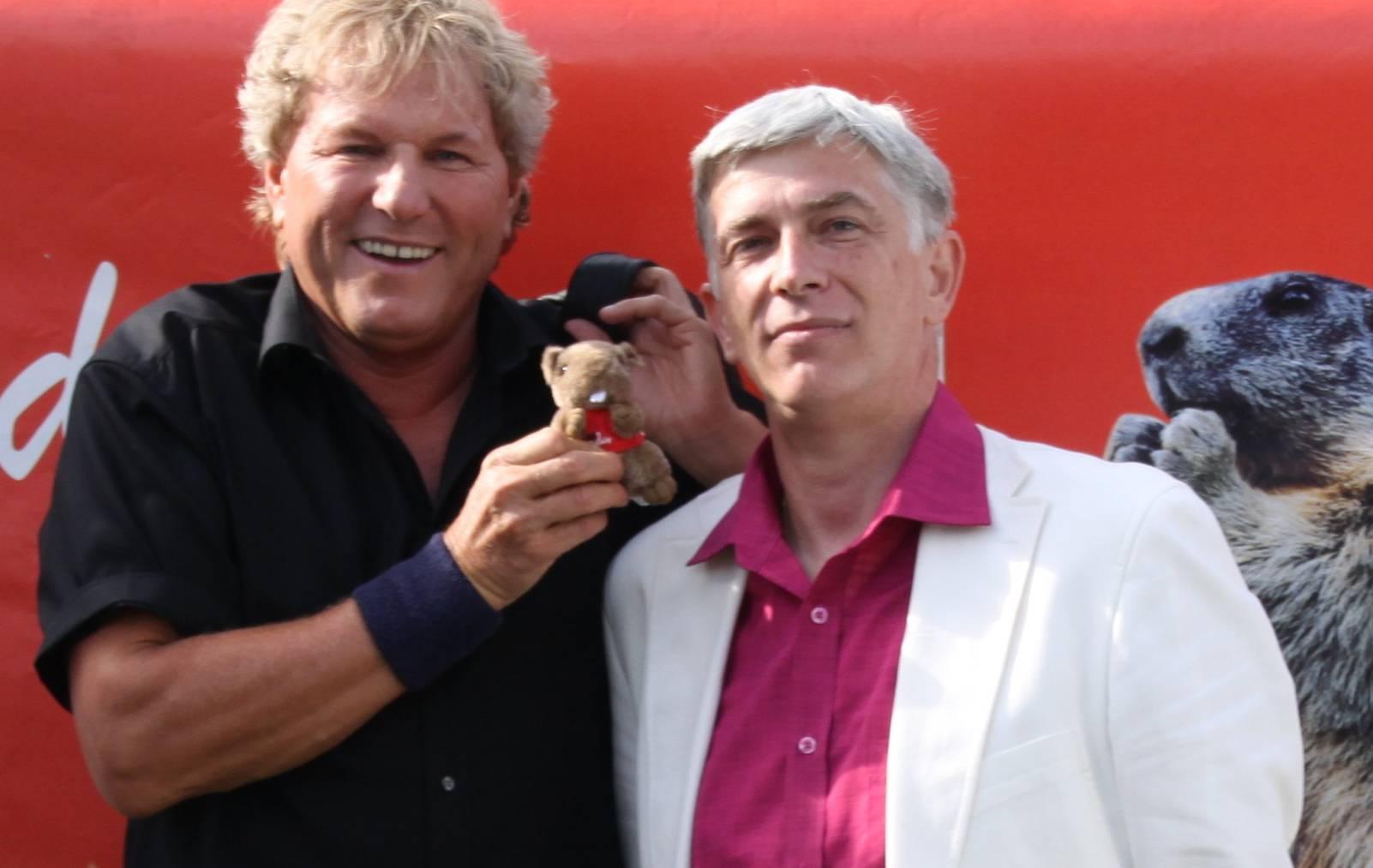 Bernhard Brink & Radio melody Moderator Werner Plüss am Flumserberg 2011