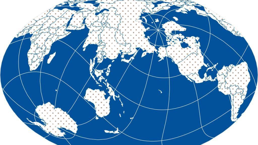Eine etwas andere Darstellung der Welt, generiert mit dem Worldmapgenerator.