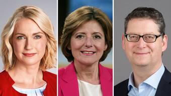 Manuela Schwesig, Ministerpräsidentin von Mecklenburg-Vorpommern, Malu Dreyer, Regierungschefin in Rheinland-Pfalz und Thorsten Schäfer-Gümbel, Chef der SPD in Hessen.