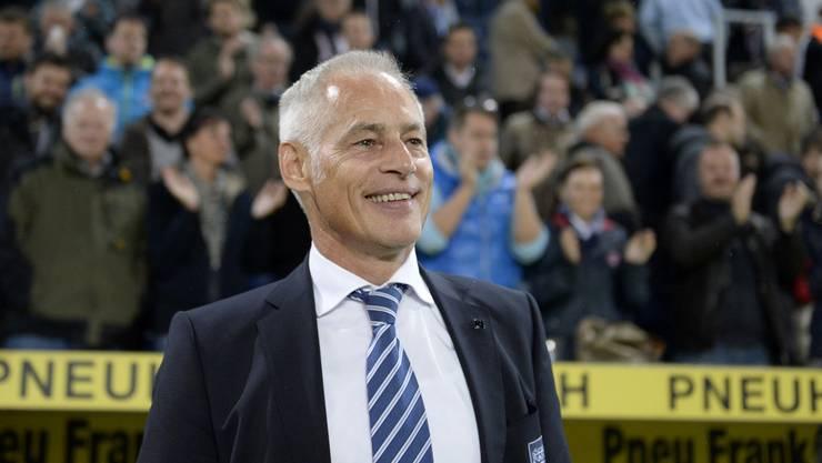 Hat das Lachen trotz allem nicht verlernt: Ruedi Stäger, bezahlter Präsident des FC Luzern.