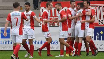 Die Solothurner hatten 2017/18 bis jetzt viel Grund zum Jubeln. Sie gewannen 21 der 26 Meisterschaftsspiele.