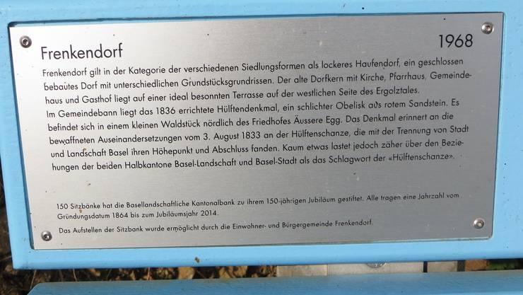 Hier kann man einfach etwas über Frenkendorf lesen.