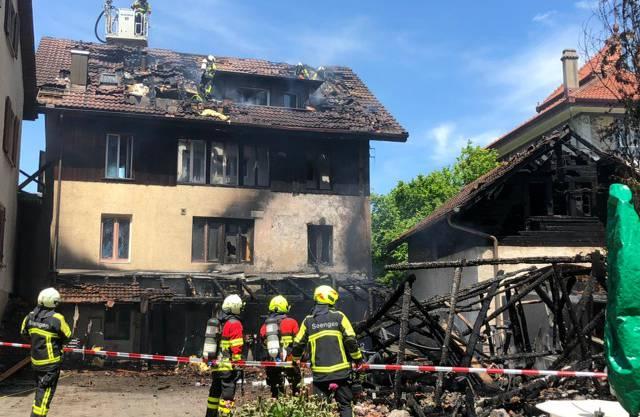 Das zerstörte Haus.