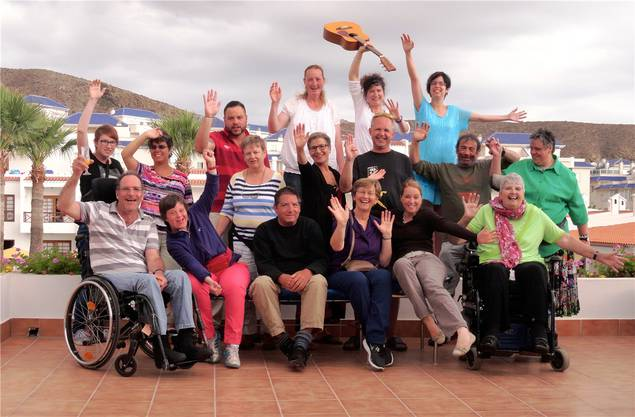 Procap bietet auch Badeferien für Menschen mit Behinderung an, wie hier nach Teneriffa im Jahr 2015.