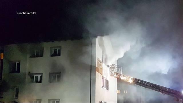 Mehrfamilienhaus nach Brand unbewohnbar