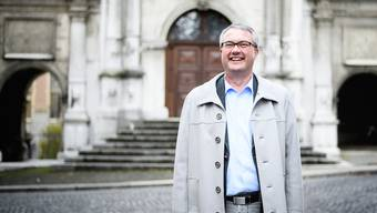 «Ich habe noch immer vor jedem Auftritt Lampenfieber»: Bildungsdirektor Remo Ankli vor seinem Arbeitsort, dem Solothurner Rathaus.