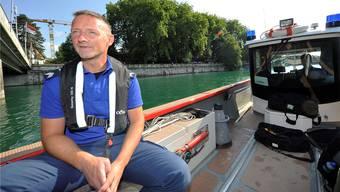 Pascal Studer, Leiter der Sondergruppe Schifffahrt, sagt, er habe den schönsten Beruf. Allerdings hat auch dieser Schattenseiten.