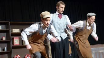 Cornelius, Vandergelder und Barnaby (v.l.) sind in «Hello Dolly» auf der Suche nach der grossen Liebe – und verursachen dabei auch etwas Chaos. Ari