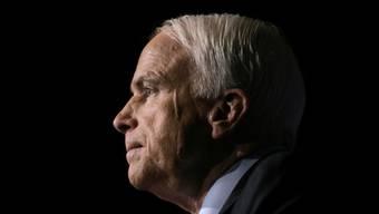 Der 81-jährige John McCain litt an einem äusserst aggressiven Hirntumor. (Archivbild)
