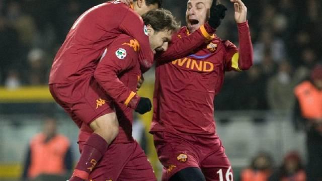 Die Römer bejubeln Last-Minute-Sieg in Turin