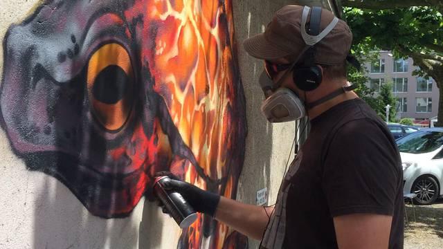 Streetart in Laufenburg: Sprayer zeigen ihre Kunst live
