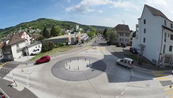 Durch den Kreisel auf der Baslerstrasse gibt es auf Trimbachs Strassen heute weniger Konfliktpunkte.