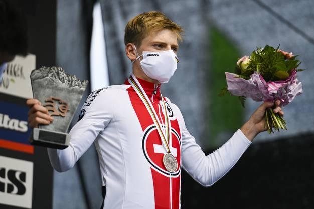 Nach der Bronzemedaille an der WM in Leogang will Joel Roth auch am Samstag auf dem Podium stehen.