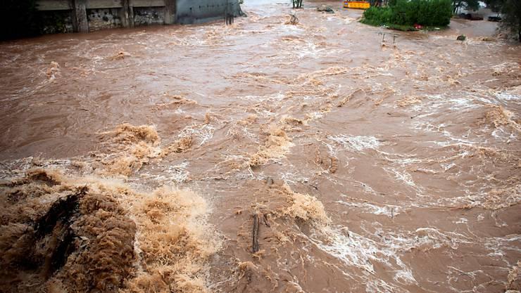 Land unter nach heftigen Regenfällen in Nordspanien.