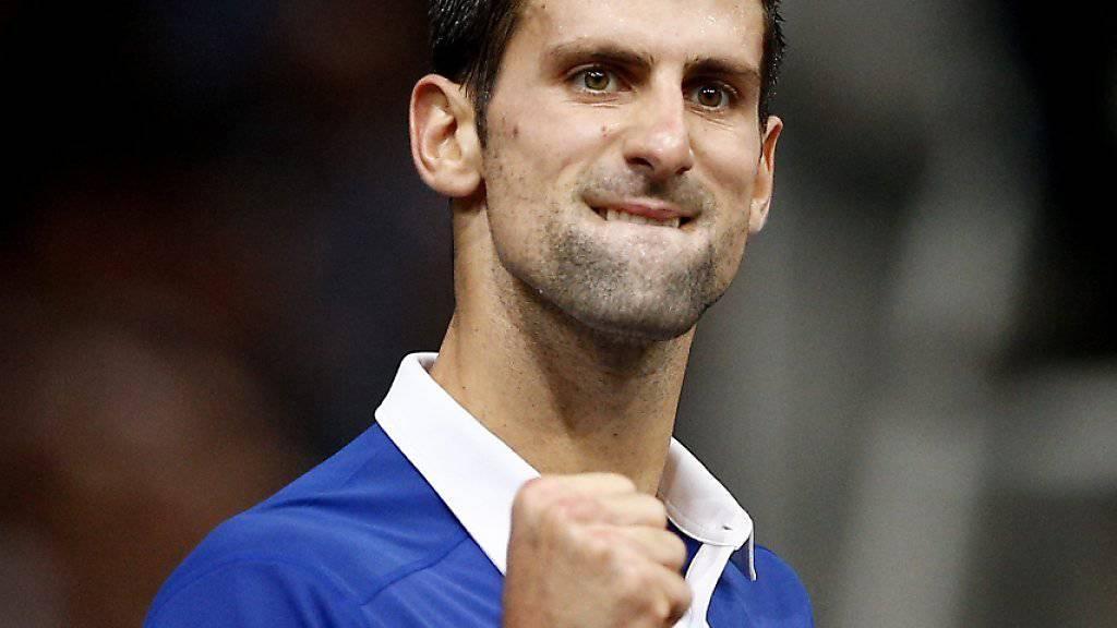 Derzeit nicht zu stoppen: Novak Djokovic gewann im Final von Paris-Bercy sein 22. Spiel in Folge