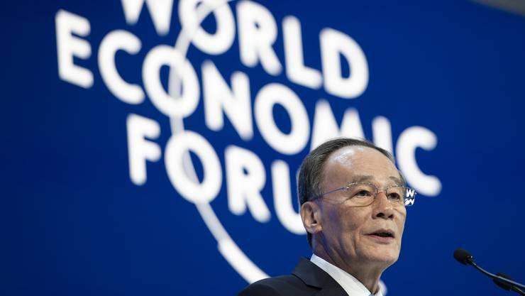 China-Kritik war eines der Top-Themen am WEF. Im Bild: der chinesische Vize-Präsident Wang Qishan.