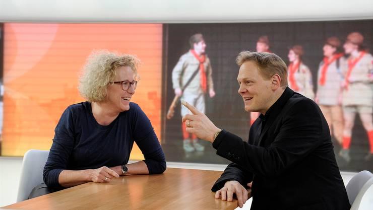 Spürt eine «Aufbruchsstimmung»: Telebasel-CEO Dominik Prétôt, hier mit Chefredaktorin Karin Müller.