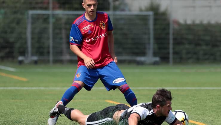 Landrit Ejupi (hier im Saisonstartspiel gegen Black Stars), brachte dem FCB mit dem 2:1 den Sieg. (eh-presse)