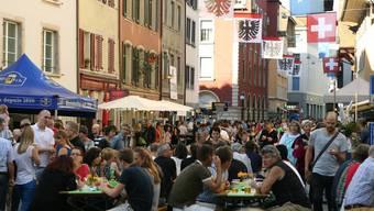 Maienzug-Vorabend Aarau – Ab ins Getümmel lautet die Devise