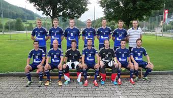 Unihockey Mümliswil will auch unter dem neuen Coach Florian Boner (hintere Reihe, rechts aussen) eine feste Grösse an der 1.- Liga-Spitze bleiben.