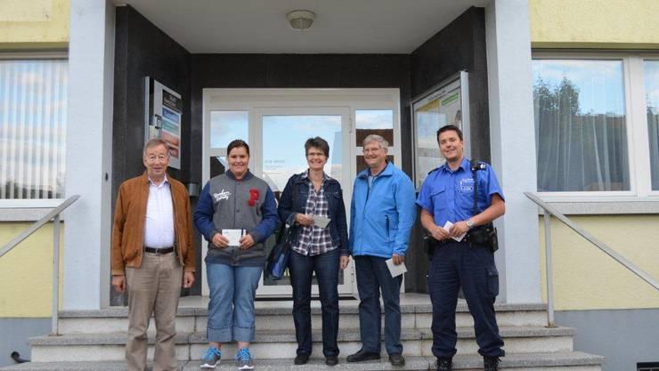 V.l.n.r: Robert Gerber, Tanja Allemann, Christine Daumüller, Erwin Aeschimann, Marco König.
