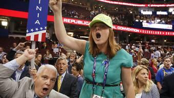 Am Parteitag der US-Republikaner verleihen wütende Delegierte ihrem Ärger Ausdruck.