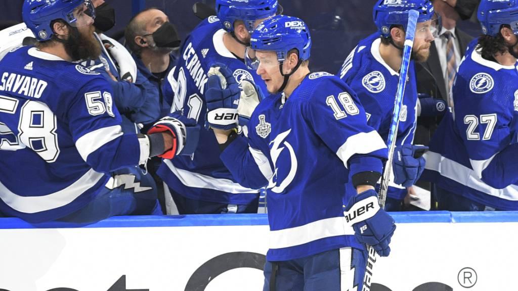 Den Tampa Bay Lightning ist der Start im den Stanley-Cup-Final 2021 gelungen