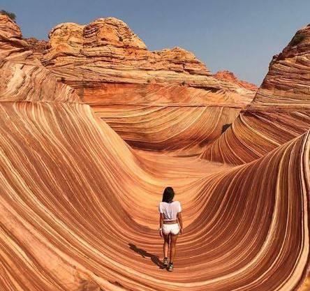 Der Zugang zu The Wave in Arizona ist auf 20 Personen pro Tag beschränkt: