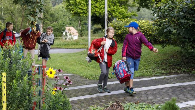Schulanfang an der Primarschule Beinwil, der kleinsten Gesamtschule im Kanton.
