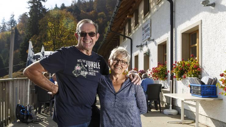 Ellen und Beat Walker-Rüegg, Wirtsleute des Restaurants Bettlachberg.