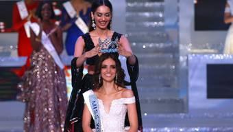 """Von der Vorgängerin gekrönt: Die Mexikanerin Vanessa Ponce de Leon ist neue """"Miss World""""."""