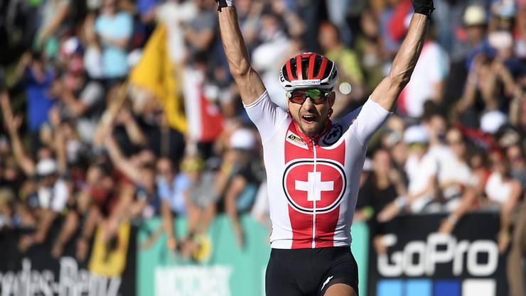 Nino Schurter feierte vor einem Jahr vor Heimpublikum seinen siebten WM-Titel