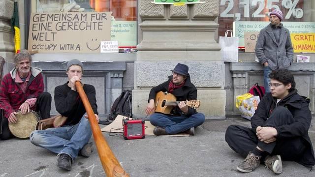 Die Occupy-Bewegung besetzte den Paradeplatz (Archiv)