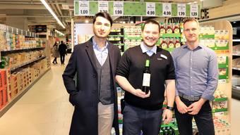 Voller Vorfreude: Projektleiter Recep Altindal, Filialleiter Mark Weber und Lidl-Immobilienchef Thomas Bätzold (v.l.).