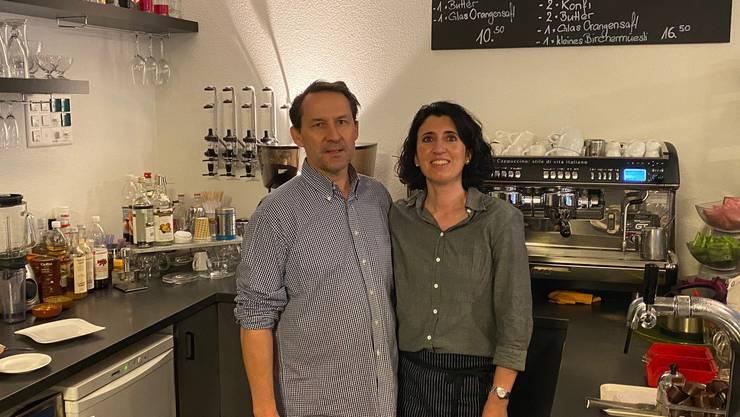 Markus Vogel und Dolores Illi vom Café Plaza