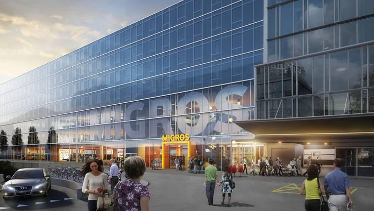 Im Bahnhof Aarau will sich die Migros auf 7000 Quadratmetern einmieten.