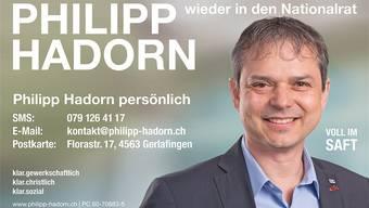 Diese Plakate von Philipp Hadorn wurden vielerorts aufgehängt. Bis Ende August sollen sie aber wieder verschwinden.