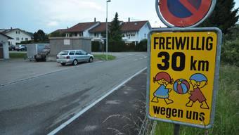 Dies bleibt vorläufig die einzige Tempo-30-Tafel in Waltenschwil