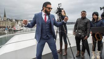 Bollywoods neuer Topstar: Ranveer Singh, hier bei einem Auftritt 2017 in Luzern, ist Botschafter von «Schweiz Tourismus» ...